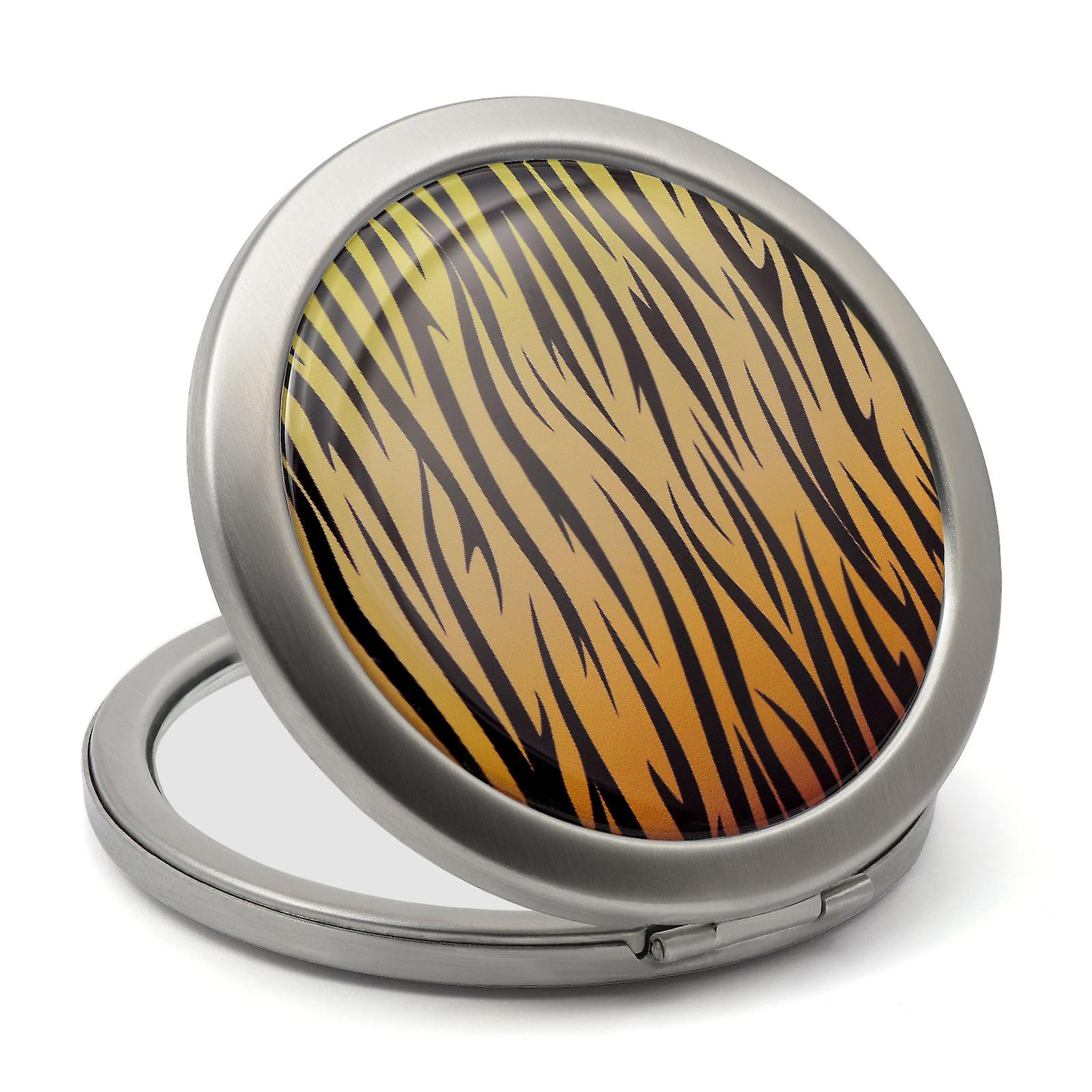 Tiger Print Compact Mirror