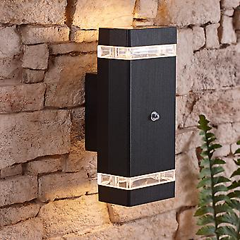 Architect Square Modern 35W Outdoor Wall Light with Built-In PIR Sensor
