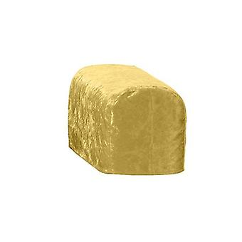 Suuri koko kulta murskattua samettia ARM korkki tuoli suojus suojuksen Slipcover sohva