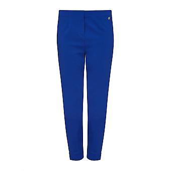 PERFECT FIT Przycięte niebieskie spodnie bengalskie
