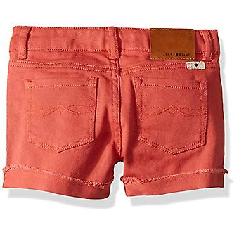 Lucky Brand Big Girls' Twill Short, Jenna Spiced Coral, 7