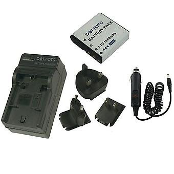 Dot.Foto GE GB-60 - 3.7v/1250mAh Battery and Battery Travel Charger