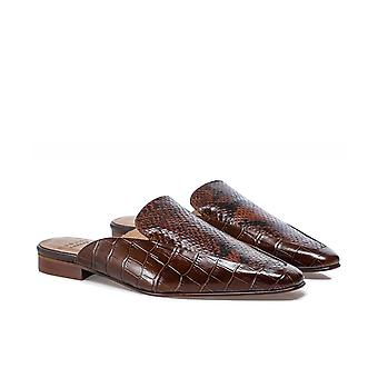 Hudson London Mari Snake Effect Leather Mules