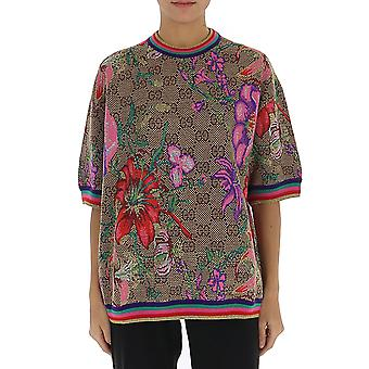 Gucci 606083xka7f2006 Frauen's Multicolor Wolle T-shirt