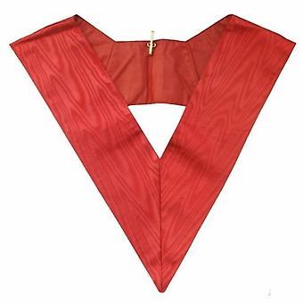 Masonic officer's collar - assr - 28th degree - red