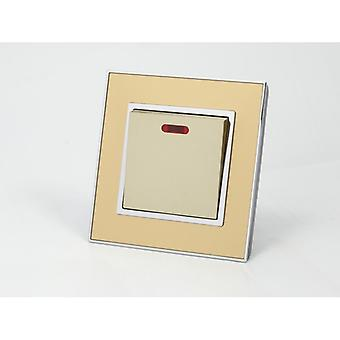 Eu LumoS como interruptor de fogão luxo ouro espelho vidro único 45A comutada