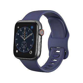 Apple Watch βραχιόλι 42/44 σιλικόνη - Σκούρο μπλε