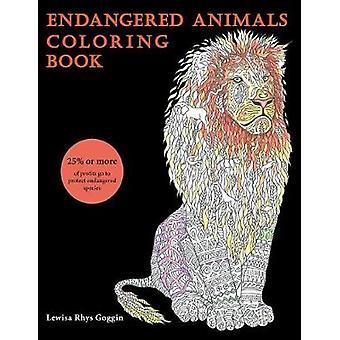 Livro de colorir animais em extinção por Goggin & Lewisa Rhys