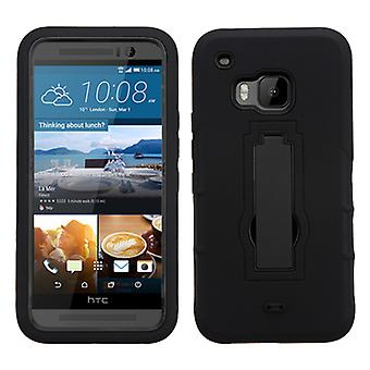 ASMYNA Symbiosis Stand Protector Case for HTC One M9 - Black/Black