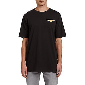 Volcom camiseta de manga corta brillante en negro