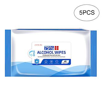 Alcohol wipes, 75% alcohol, 5 pack combination set, sterile wipes sterile gauze pads, individually packaged, can be used for outdoor skin cleaning
