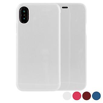 Folio Custodia telefono cellulare Iphone X/xs KSIX Hard Case/White
