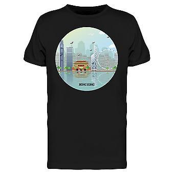 Hong Kong City Ocean Tee Men's -Kuva Shutterstock