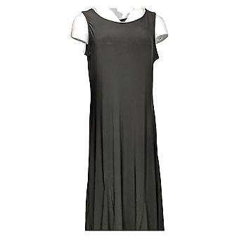 Women with Control Dress Petite Como Jersey Godet Maxi Black A353269