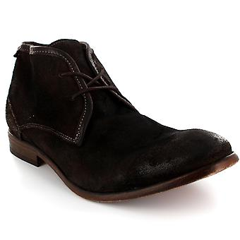 Mens H By Hudson Cruise Suede Lace Up Shoes Smart Formal Ankle Boots