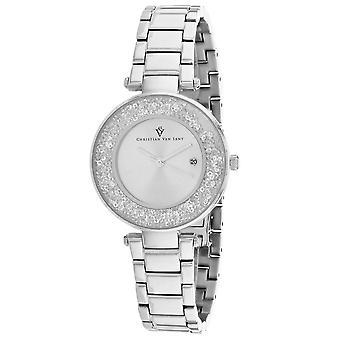 Christian Van Sant Women's Dazzle Silver Dial Watch - CV1210
