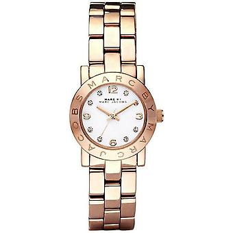 Marc Jacobs MBM3078 Mini Amy White Dial Rose Gold-tone Ladies Watch