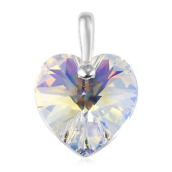 Heart Made with Swarovski Crystal Pendant for Women Sterling Silver, 1.25 Ct TJC