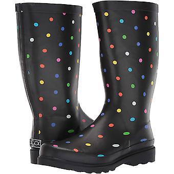 Sugar Women's Raffle Printed Rain Boot, Black Fiesta dot, 7 M US