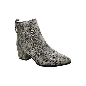 Very G Womens Dynamite Snake Print Ankle Booties