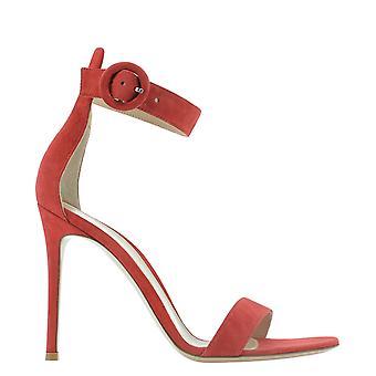 Gianvito Rossi G6109615riccamtabasco Women's Red Suede Sandals