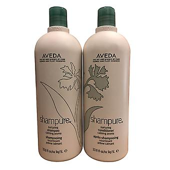 Aveda Shampure Nurturing Shampooing & Conditioner Set Calming Aroma 33.8 OZ Chacun
