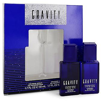 Gravity Gift Set By Coty Two 1.7 oz Cologne Sprays
