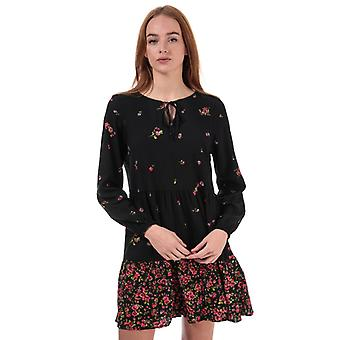 Women's Only Alisa Life Long Sleeve Floral Dress in Black