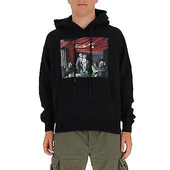 Off-white Ombb037e20fle0031010 Männer's schwarze Baumwolle Sweatshirt