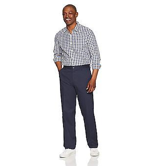 Essentials Men's Classic-Fit resistente a las arrugas planas de frente chino Pantalón, ...