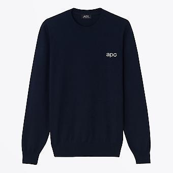 A.P.C.  - Knitted Logo Pullover - Dark Navy