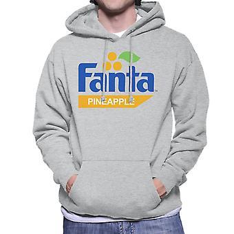 Fanta Pineapple Retro 1980s Logo Sudadera con capucha para hombre