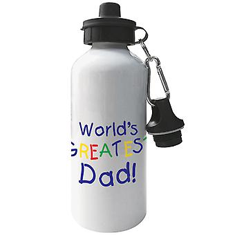 Worlds Greatest Dad Aluminium Sports Water Bottle