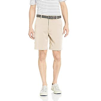 Essentials Män & apos Standard Classic-Fit Stretch Golf Kort, Sten, Storlek 36