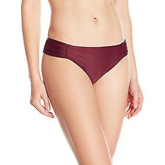 Brand - Coastal Blue Women's Swimwear Bikini Bottom, Zen Rose, S (4-6)