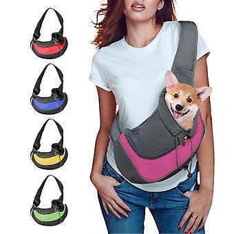 Mesh Oxford Single Comfort Sling - Pet Puppy Shoulder Bag , Carrier S/m