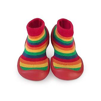 Step ons rainbow stripe sock shoes