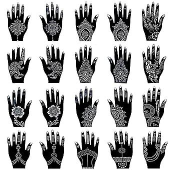 Kit Av Mehndi Tattoo Stencil -tillfällig Body Art indiska Mehndi ,self