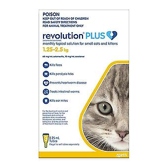 Revolution Plus for Kittens & Small Cats 2.8-5.5 lbs (1.25-2.5 kg) - 3 pack