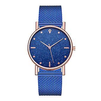 HEZHUKEJI Watch Quartz Ladies - Luxury Anologue Movement for Women Blue