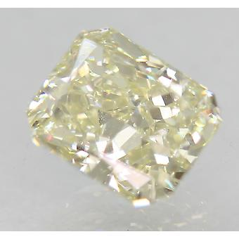 Certificado 1.01 Carat K VVS2 Diamante Natural Mejorado Radiante 6.23x5.22mm 2EX