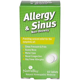 NatraBio, Allergy & Sinus, Non-Drowsy, 60 Tablets