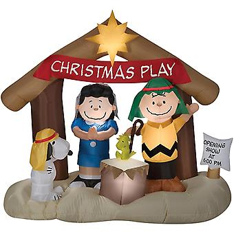 Airblown Peanuts Nativity Scene Christmas Lawn Decoration