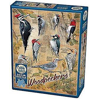 Cobble hill - notable woodpeckers - 500 pc puzzle