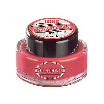 Aladine Calli & Co Blekk Coral 15 ml