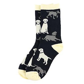 Lazy One Labradors SK790 Men's Black Socks