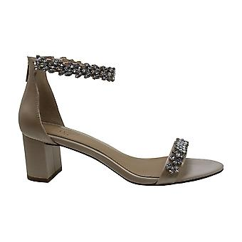 Jewel Badgley Mischka Women's BRONWEN Sandal, Champagne Satin, 9.5 M US