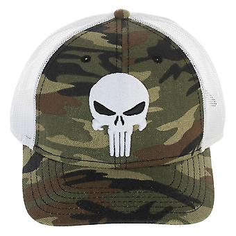 Baseball Cap - Punisher - Camo Pre-Curved Trucker New tc823ymkn