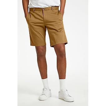 Pristu Warm Khaki Tailored Shorts