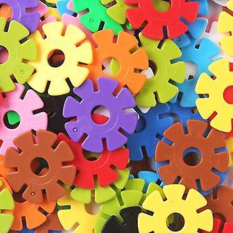 150stk/pakke Multicolor Montessori Snowflake Byggesten Legetøj- Uddannelse